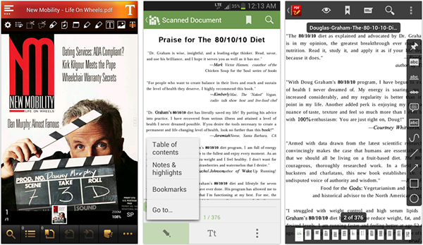 Android PDF readers