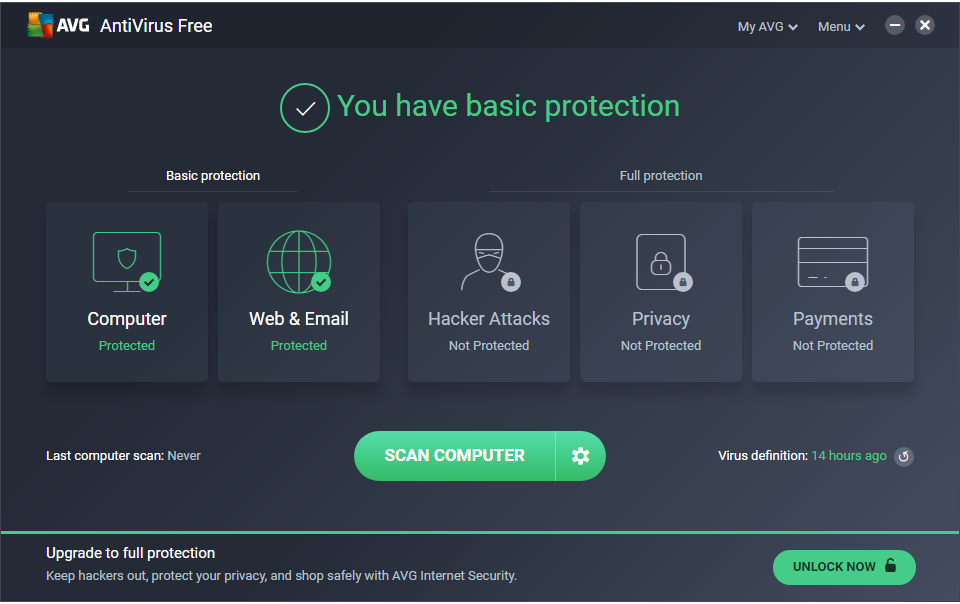 AVG AntiVirus FREE - Home