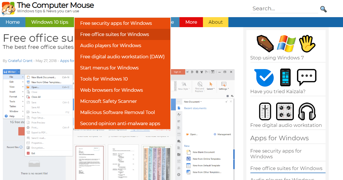 Free office suites for windows the computer mouse - Free office suite for windows ...