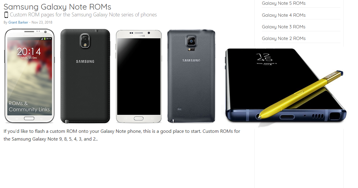 Galaxy Note series ROMs