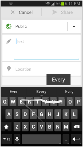Google Keyboard from Nexus 5 dump - Uppercase QWERTY in portrait mode