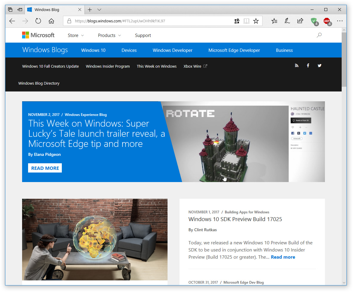 Microsoft Edge web browser