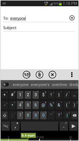 Minuum Keyboard - portrait mode + Standard QWERTY layout and Cursor Control