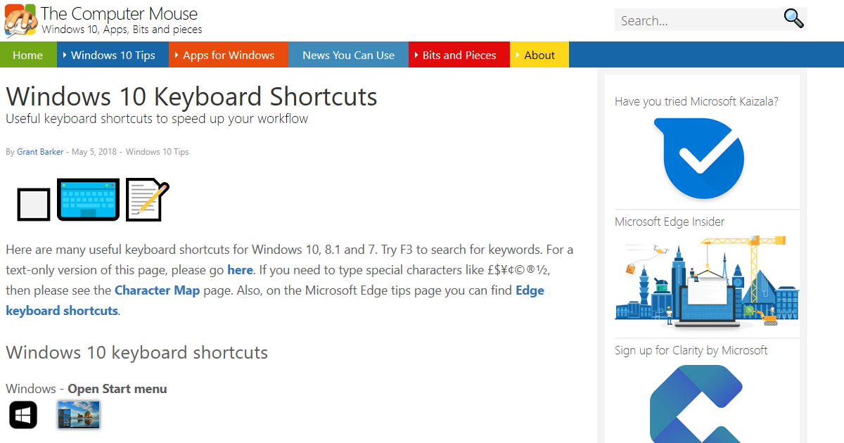 Windows 10 Keyboard Shortcuts - The Computer Mouse